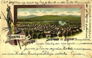 Titelbah, razglednica Zaječara