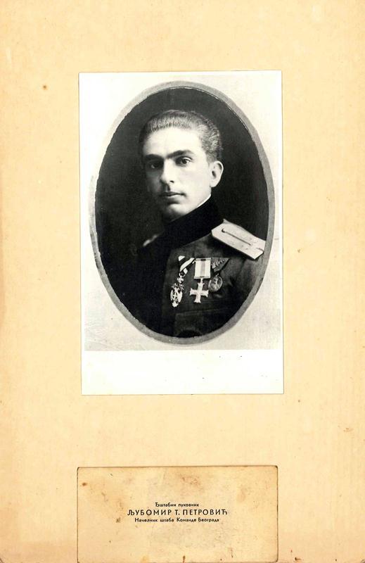 Štabni pukovnik Ljubomir T. Petrović. Načelnik štaba Komande Beograd