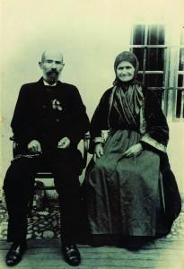 Урош и Стојанка Милошевић, 1900