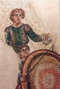 Mozaik sa scenom iz lova
