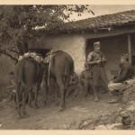Коњички курири у приправности у Пироту 1913