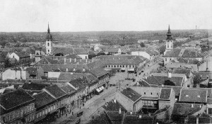 Panorama Glavne ulice i dela venca oko 1909