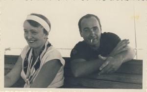 Eма и Милан, Цавтат, 1936.г.