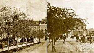 Малдице бођоша испред зграде Жупаније 1900