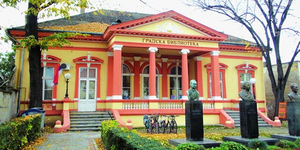 Danas upravna zgrada biblioteke, nekada Mađarska čitaonica