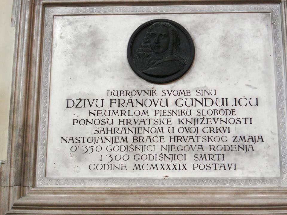 Ivana Dživa Gundulića, poznatog po epu Osman, SANU je uvrstila u 100 najznamenitijih Srba