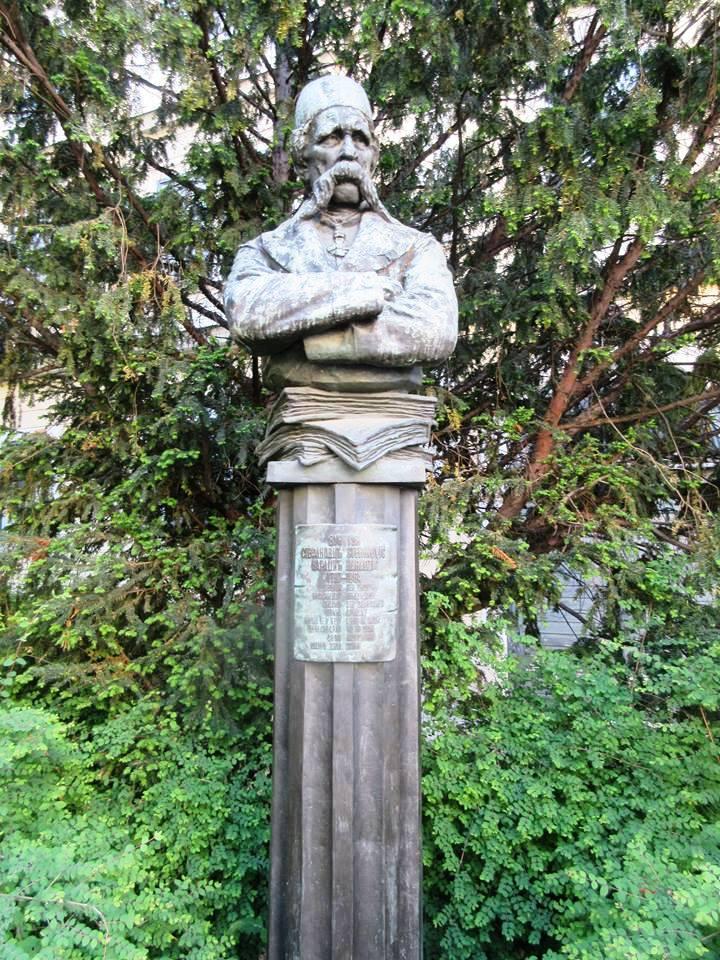 Spomenik Vuka S. Karadžića u Beču. Adresa: Rasmanovskygasse 22 1030