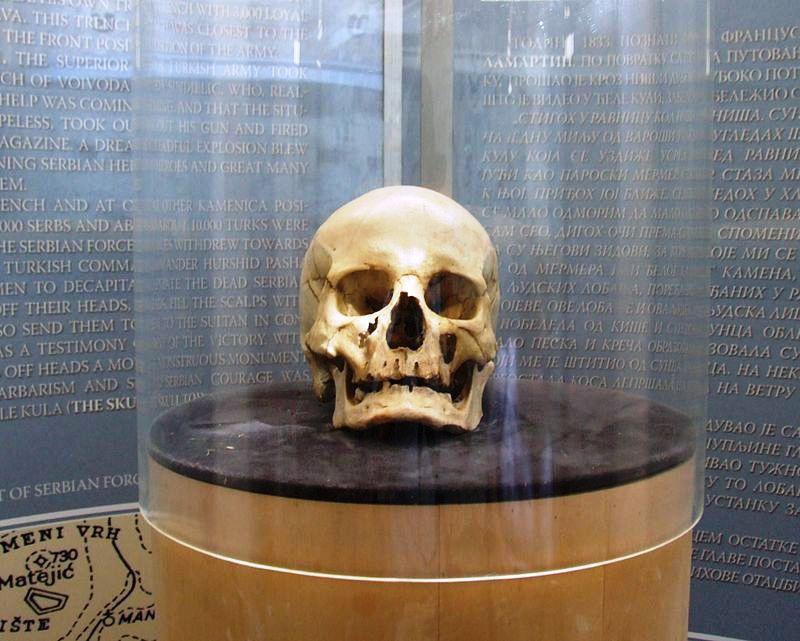 Izdvojena lobanja za koju se pretpostavlja da pripada Stevanu Sinđeliću