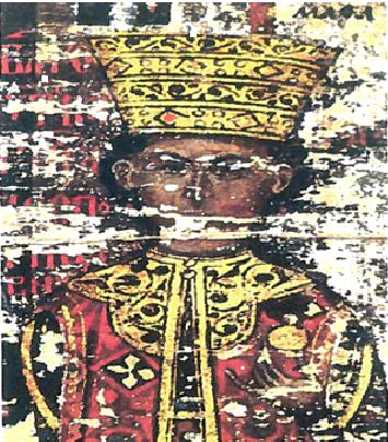 Портрет Маре Бранковић на Есфигменској повељи 1429. године