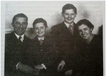 Конова млађа кћи Малвина са породицом, мужем Леополдом Херцогом и синовима Александром и Ђорђем