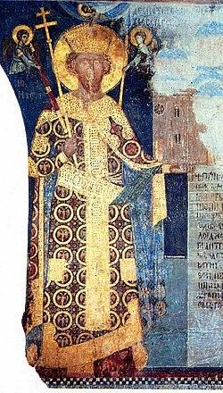 Ктиторска фреска деспота Стефана Лазаревића из Манасије