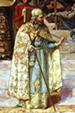 """Nikola Buća (Detalj sa slike """"Krunisanje cara Dušanaˮ Paje Jovanovića)"""