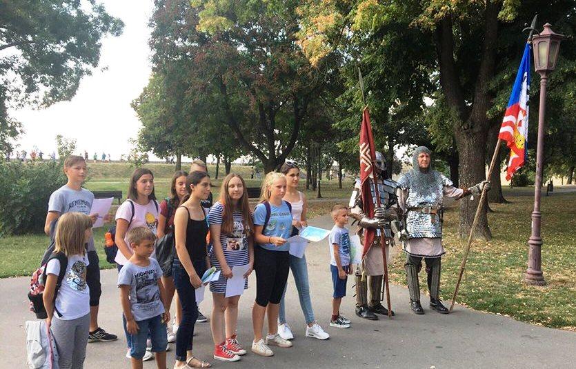 Деца са витезовима на Калемегдану
