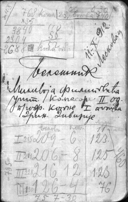 Фрагменти ратних бележака Миливоја Филиповића из Балканских и Првог светског рата