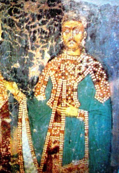 Вук Лазаревић (детаљ фреске из манастира Руденица, 1402–1405)