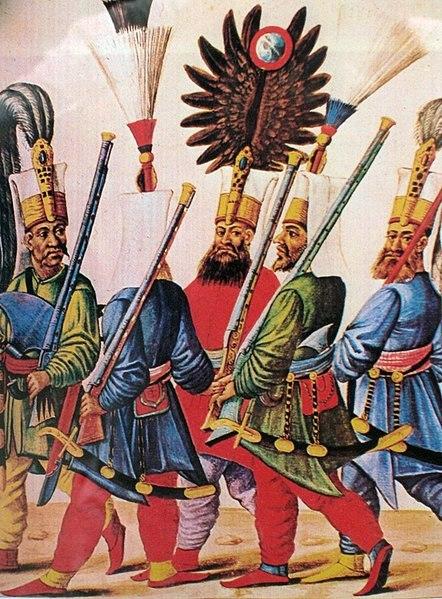 Султан Мурат IV са јаничарима (Аутор: G. Jansoon)