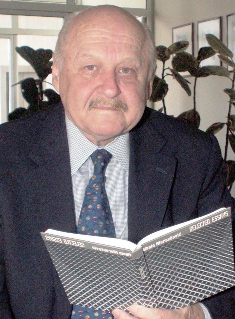 Рођен 1935. године, Никола Моравчевић је писац историјских романа и историчар књижевности. Од половине педесетих година живи у Сједињеним Америчким Државама, у Чикагу, где је остварио бриљантну универзитетску каријеру. На државном универзитету у Чикагу предавао је српску и руску књижевност XIX и XX века. На истом универзитету основао је славистичке студије, да би каријеру завршио као проректор Универзитета и директор Управе за универзитетски развој.