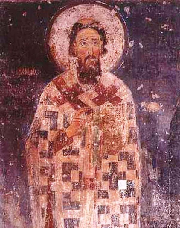 Sveti Sava (oko 1175–1236), freska iz manastira Mileševa