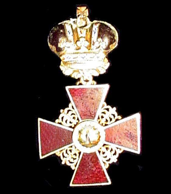 Орден Свете Ане II какав је повељом добио Младен Миловановић од руског цара Александра I за заслуге (Војни музеј, Београд)