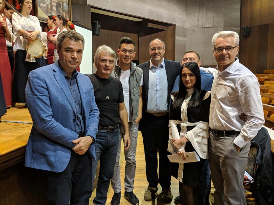 Članovi i prijatelji Srpskog legata: Goran Ličanin, Vladan Živanović, Željko Vasić, Dimitrije Stikić, Goran Debelnogić, Sanja Vuković