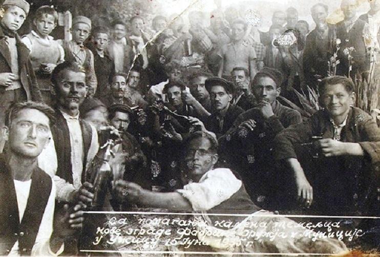 Постављање камена темељца за Пошингерову Фабрику оружја у Крчагову 3. 11. 1935.