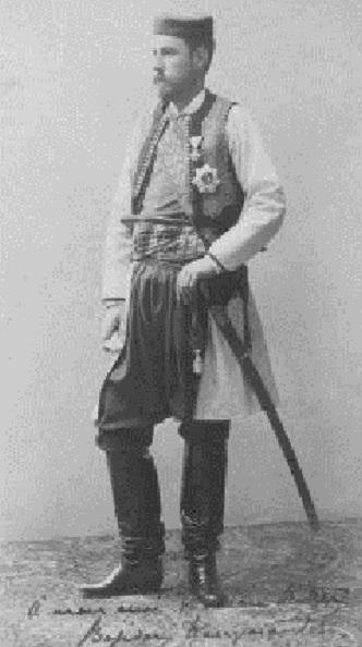 Portrait en pied et en costume de Bojidar Karageorgevitch