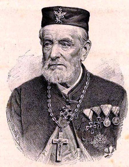 """Портрет Јована Сундечића из """"Босанске вилеˮ (1897)"""