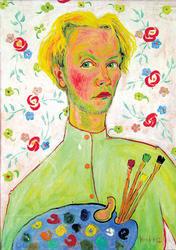 Vasiljev Autoportret u rubaski_1952