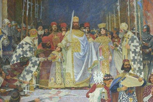 Detail_of_Krunisanje_Cara_Dušana_by_Paja_Jovanović