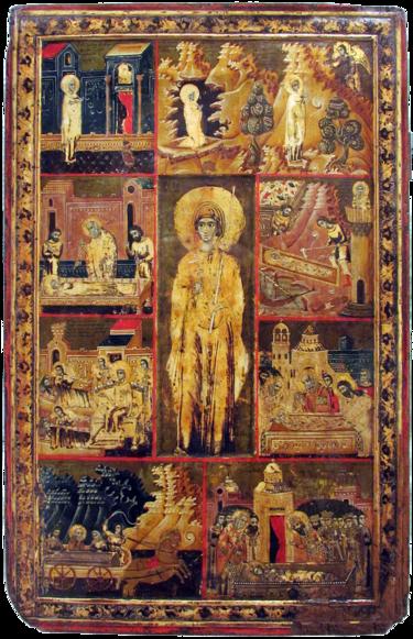 375px-Vita_icon_of_St_Paraskeve_of_Trnovo_(Patriarchate_of_Peć,_1719-20)