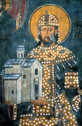 Fresco_of_Stefan_Dragutin,_Arilje