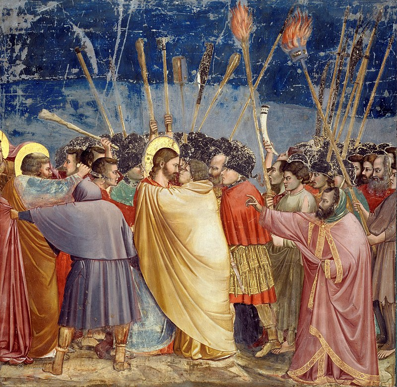 800px-Giotto_-_Scrovegni_-_-31-_-_Kiss_of_Judas